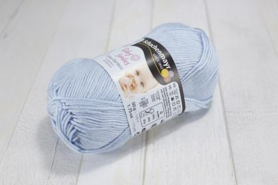 "Baby Smiles Cotton Bamboo /Schachenmayr/ 50g #01054 ""Gaiši zils"" ― Latvian Crafts"