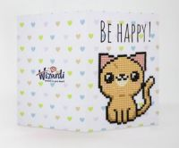 "Wizardi diamond painting - Card ""Be Happy!"" - 10 x 14 cm"