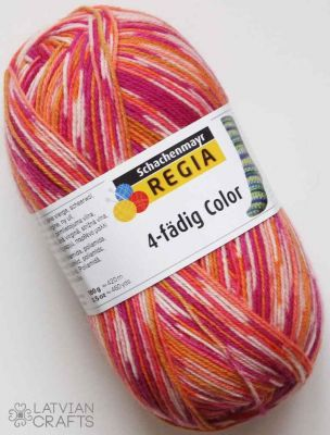 "Regia Super Jacquard color 4-ply 100g #07203 ""Papagailis"" ― Latvian Crafts"