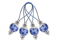 Stitch markers 12 pcs /Blooming Blue /KnitPro Playful Beads