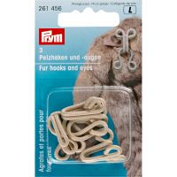 Fur hooks and eyes - 3 pcs
