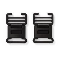 Clip buckles for overalls, 35mm, black/ Prym/ 2pcs