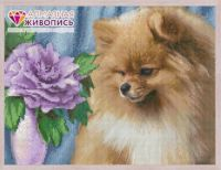 "Diamond painting ""Spitz"" - 40 x 30cm"