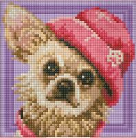 "Diamond painting ""Chihuahua"" -15 х 15cm"