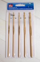 "5 Chrochet hook set ""New Gold"" /Prym/ Ø 2.5 - 5.00 mm"