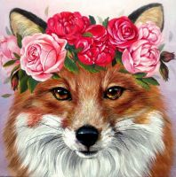 "Wizardi Diamond painting ""Foxy Lady"" - 20 x 20 cm"