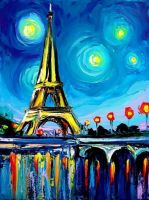 "Wizardi Diamond painting ""Paris Colours"" - 15 x 20 cm"