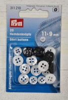 Shirt Buttons Ø11+9 mm - White - 20 pcs