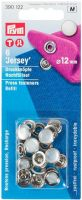 Jersey Press Fasteners pearl colour 12mm - 6 pcs refill pack