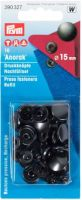 "Press fasteners ""Anorak"" for anorak, 15 mm, 10 pcs. - black oxidized refill pack"