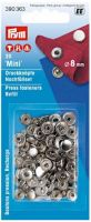 "Buttons ""Mini"" 8 mm, 20 pcs. silver - refill pack"