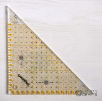 Universal triangle ruler 15cm
