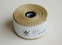 "Aida band for embroidery 14ct /Zweigart/ ""White + Gold"" - 10 x 5 cm"