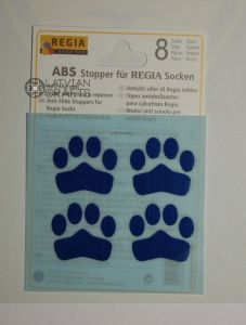 Anti slip stoppers for Regia socks 8pcs - Blue ― Latvian Crafts
