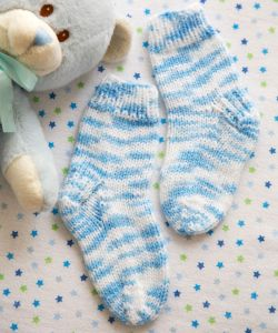 "Knitted Socks ""Alfie""/Red Heart Baby ― Latvian Crafts"