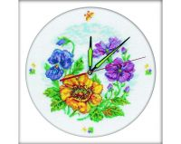 Flower clock II - embroidery kit /RTO/ 30 x 30 cm