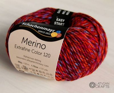 "Merino Extrafine Color 120 /Schachenmayr/ 50g #499 ""Džeza sajaukums"" ― Latvian Crafts"