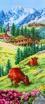 Swiss Alpine landscape - embroidery kit /Anchor 32 x 14 cm