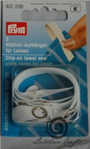 Clip on towel loops for linen, 5pc - stock clearance! ― Latvian Crafts