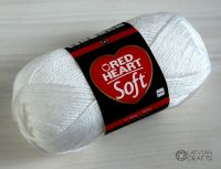 "Soft (Red Heart) 100g #00001 ""Balts"""