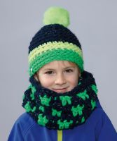 "Crochet Child's Cap and Scarf ""Infinity"" /Lumio"