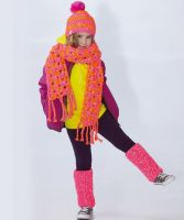 Crochet Child's Cap, Scarf, leg warmers /Lumio