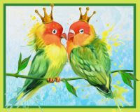 "Diamond painting ""Inseparable couple"" - 30 x 24cm"