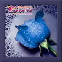 "Diamond painting ""Blue Rose"" - 22 x 24cm"