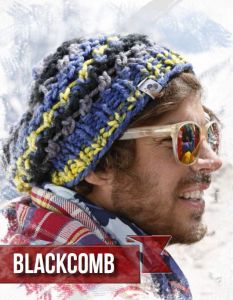 "Knitted hat ""Blackcomb""/Bravo Big Color  ― Latvian Crafts"
