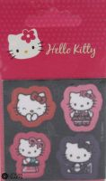 "Hello Kitty iron-on motif ""Black"" A"