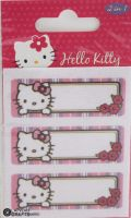 "Hello Kitty iron-on motif/Name Label Kit ""Flowers"" E"