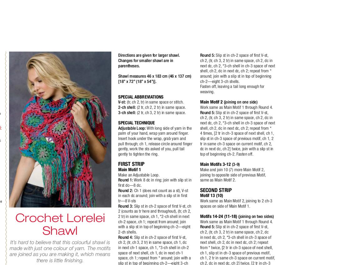Crochet Lorelei Shawl Crochet Pattern - Unforgettable /Red Heart ...