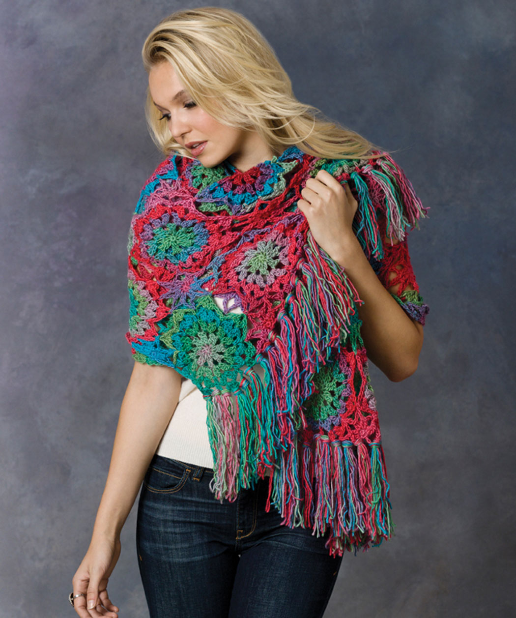 Crochet Lorelei Shawl Crochet Pattern Unforgettable Red Heart